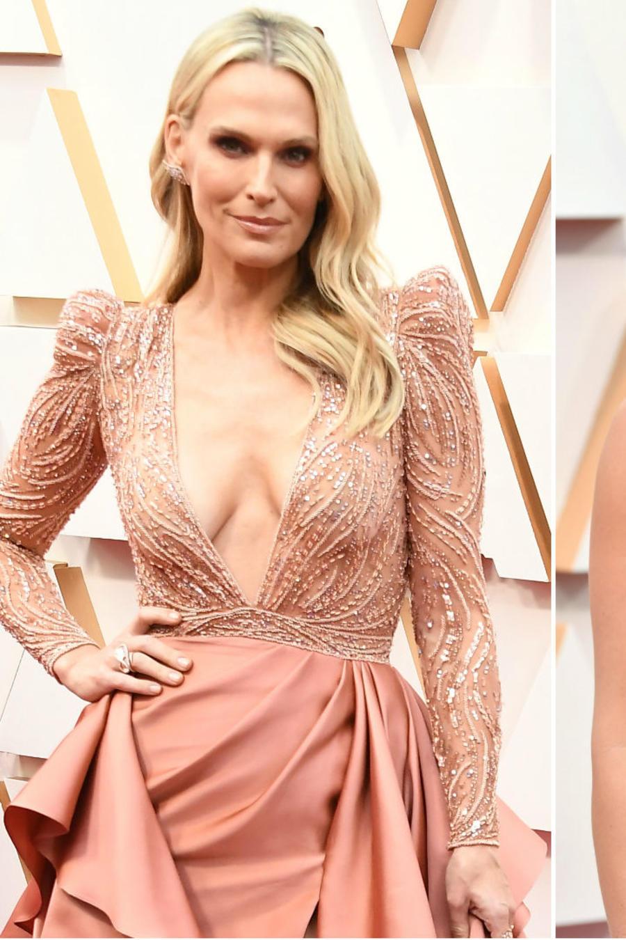 Molly Sims, Scarlett Johansson y Nicole Kimpel en los Oscar 2020