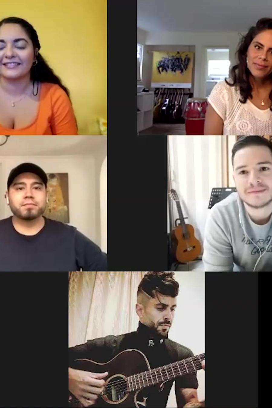 Videollamada del Team Guzmán