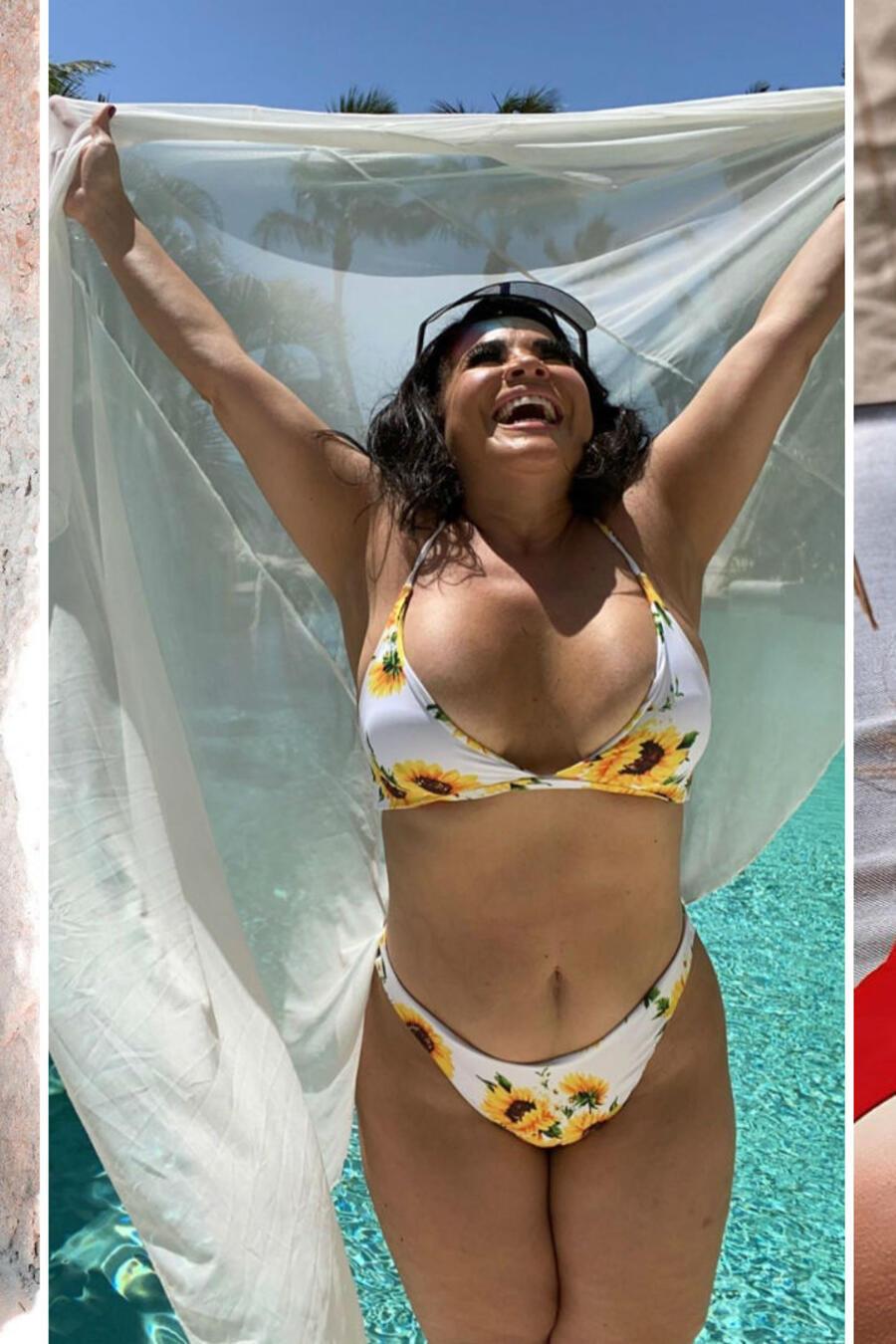 Jenicka Lopez, Carolina Sandoval y Danna Paola en traje de baño
