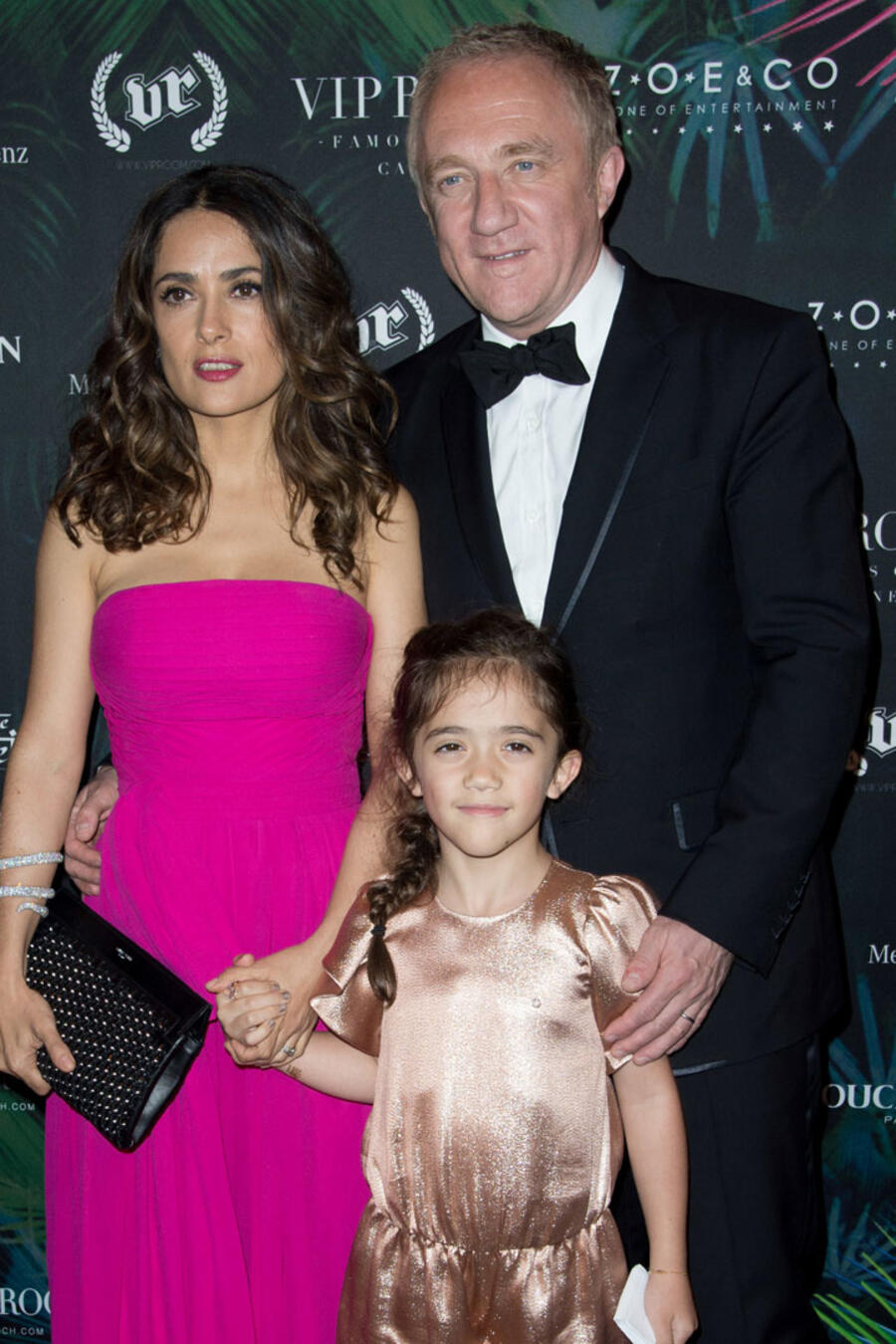 Salma Hayek y familia