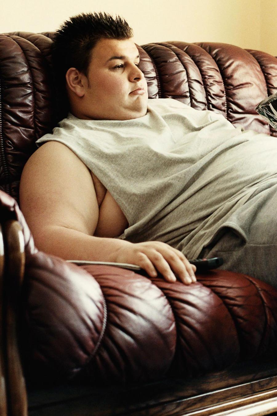 Joven con obesidad