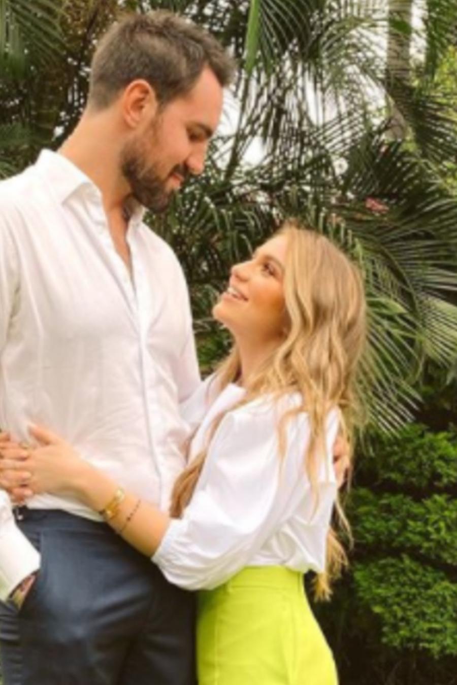 Sofía Castro con su novio Pablo Bernot