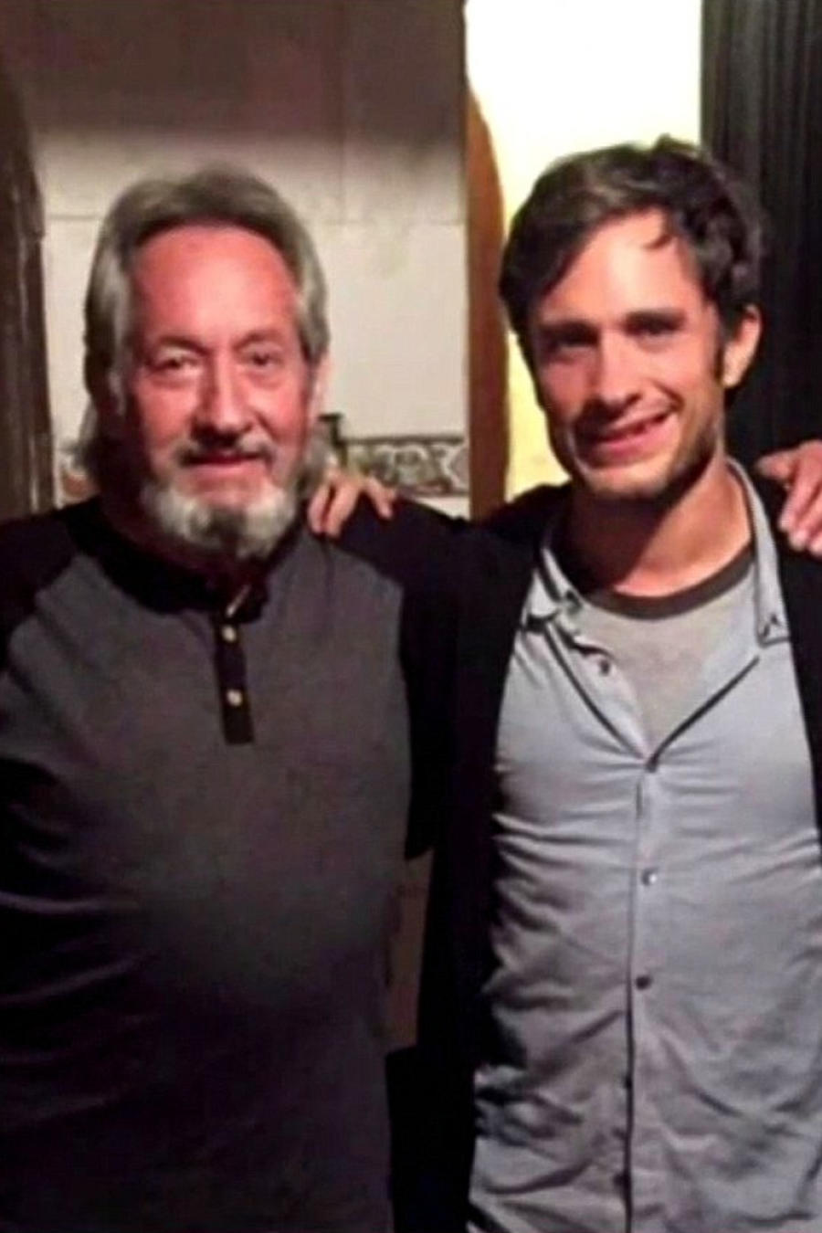 Gael García junto a su padre
