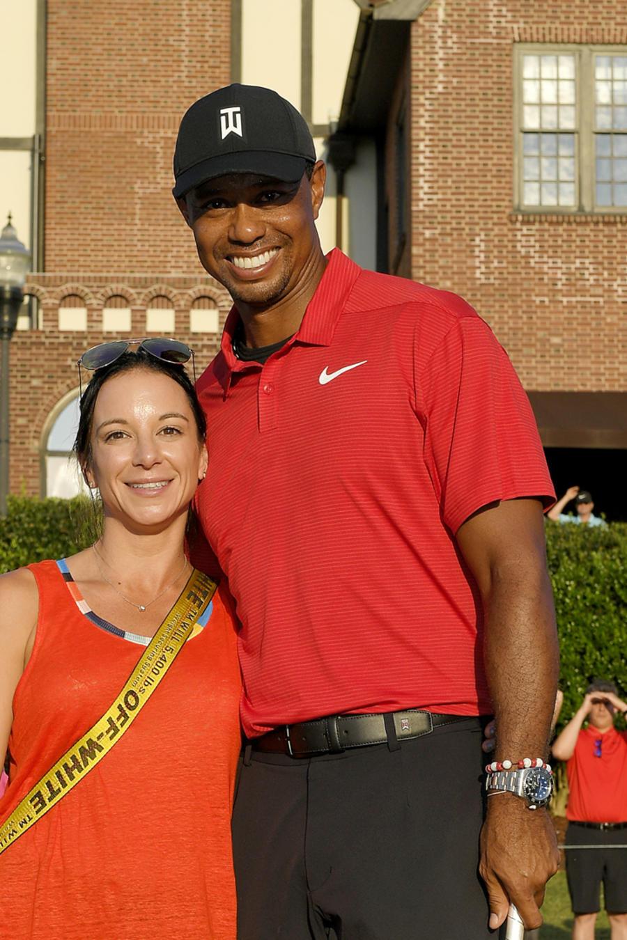 Tiger Woods y su novia Erica Herman