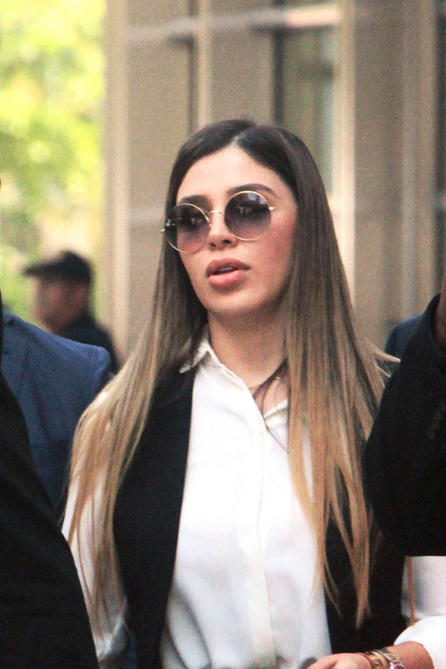 Emma Coronel arriving at court