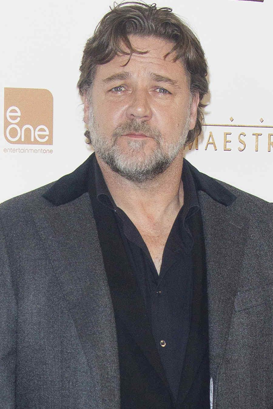 """Russell Crowe en la premiere de """"El Maestro del Agua""""."""