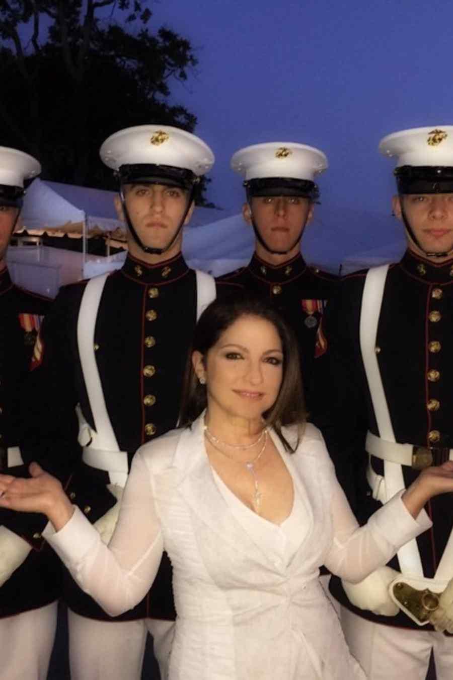 Gloria Estefan celebrando Memorial Day