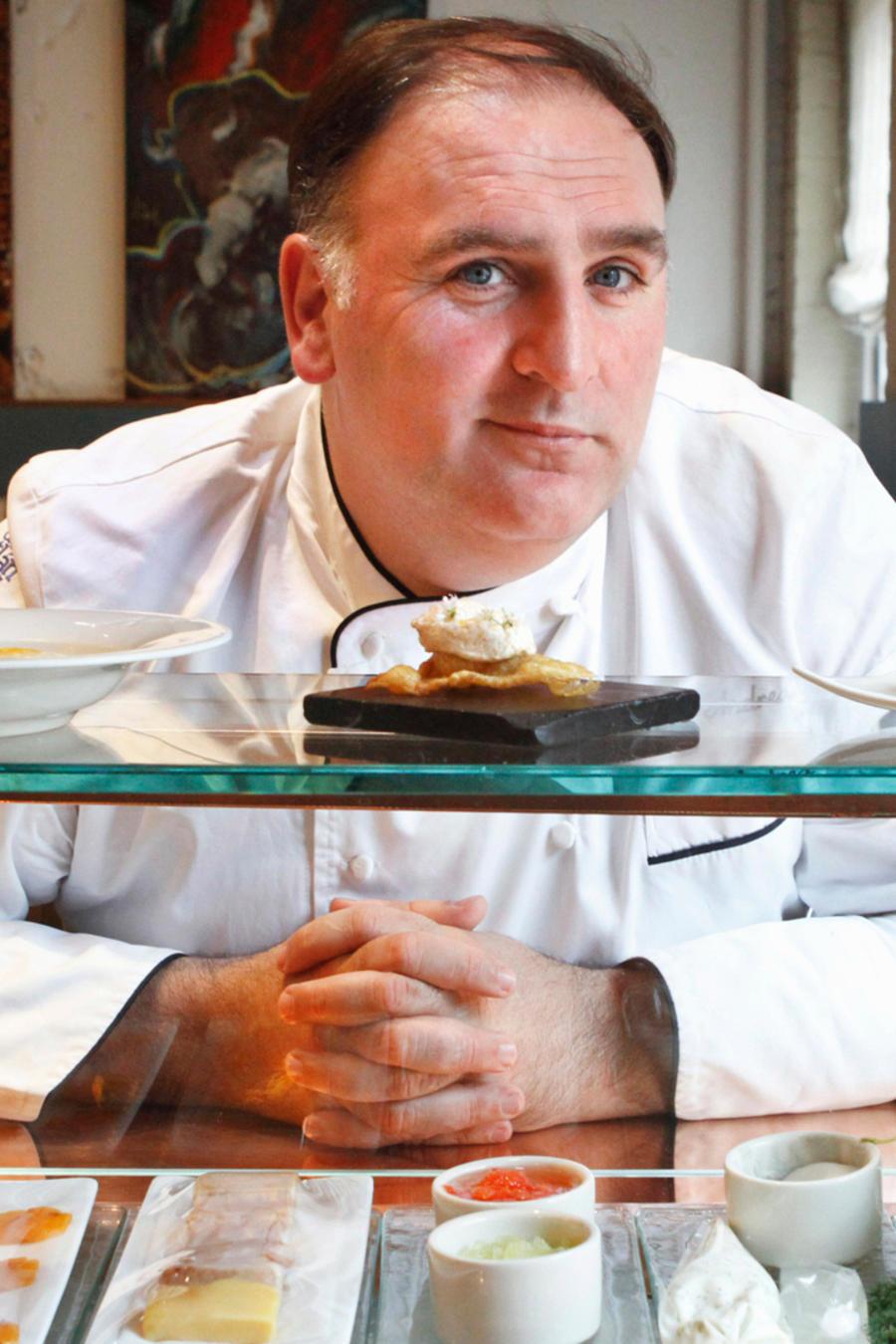 Chef José Andrés en el Minibar de Washington