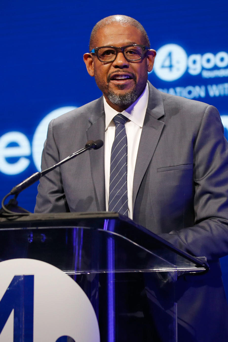 Forest Whitaker en el evento unite4:humanity.