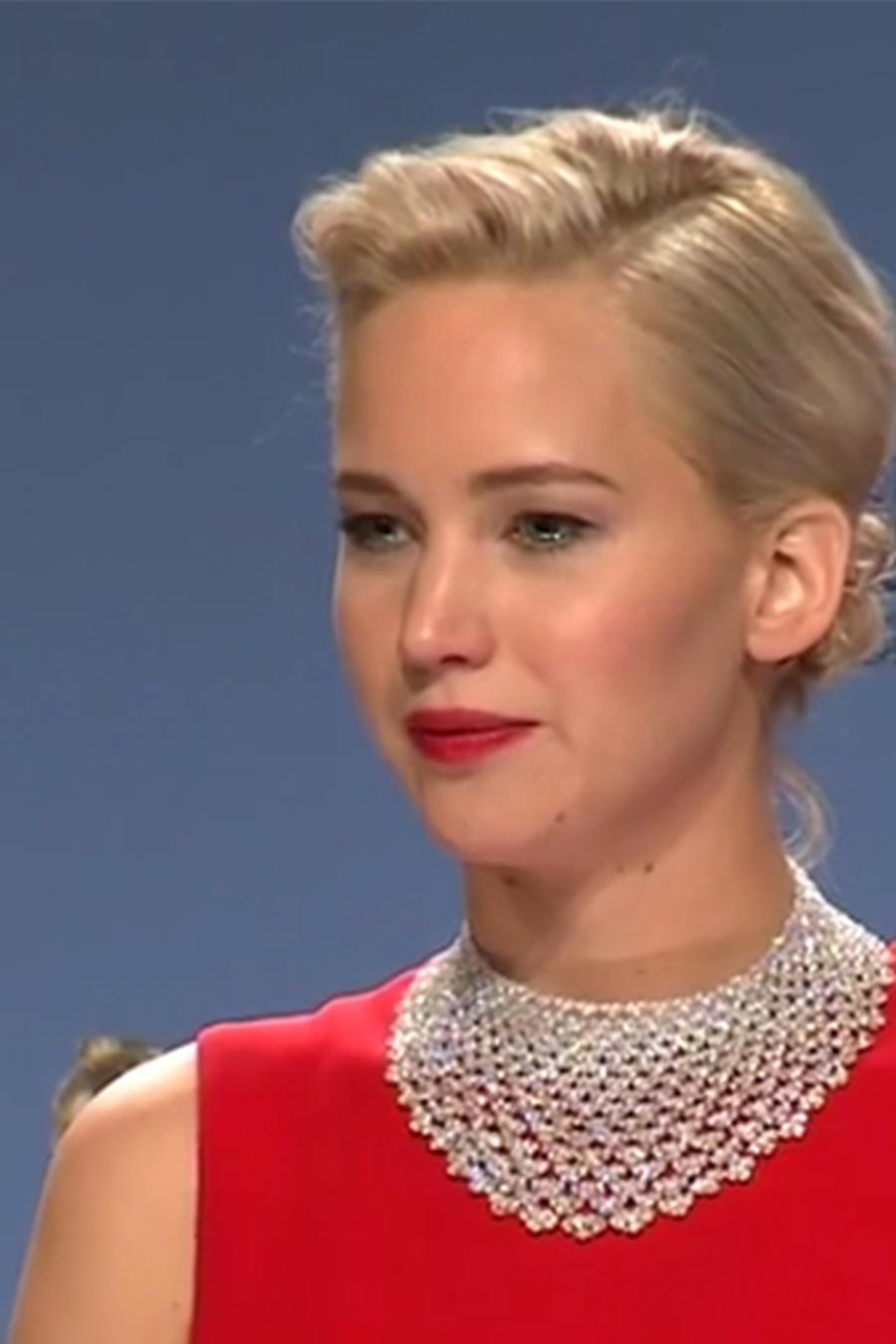 Jennifer Lawrence en los Golden Globes 2016