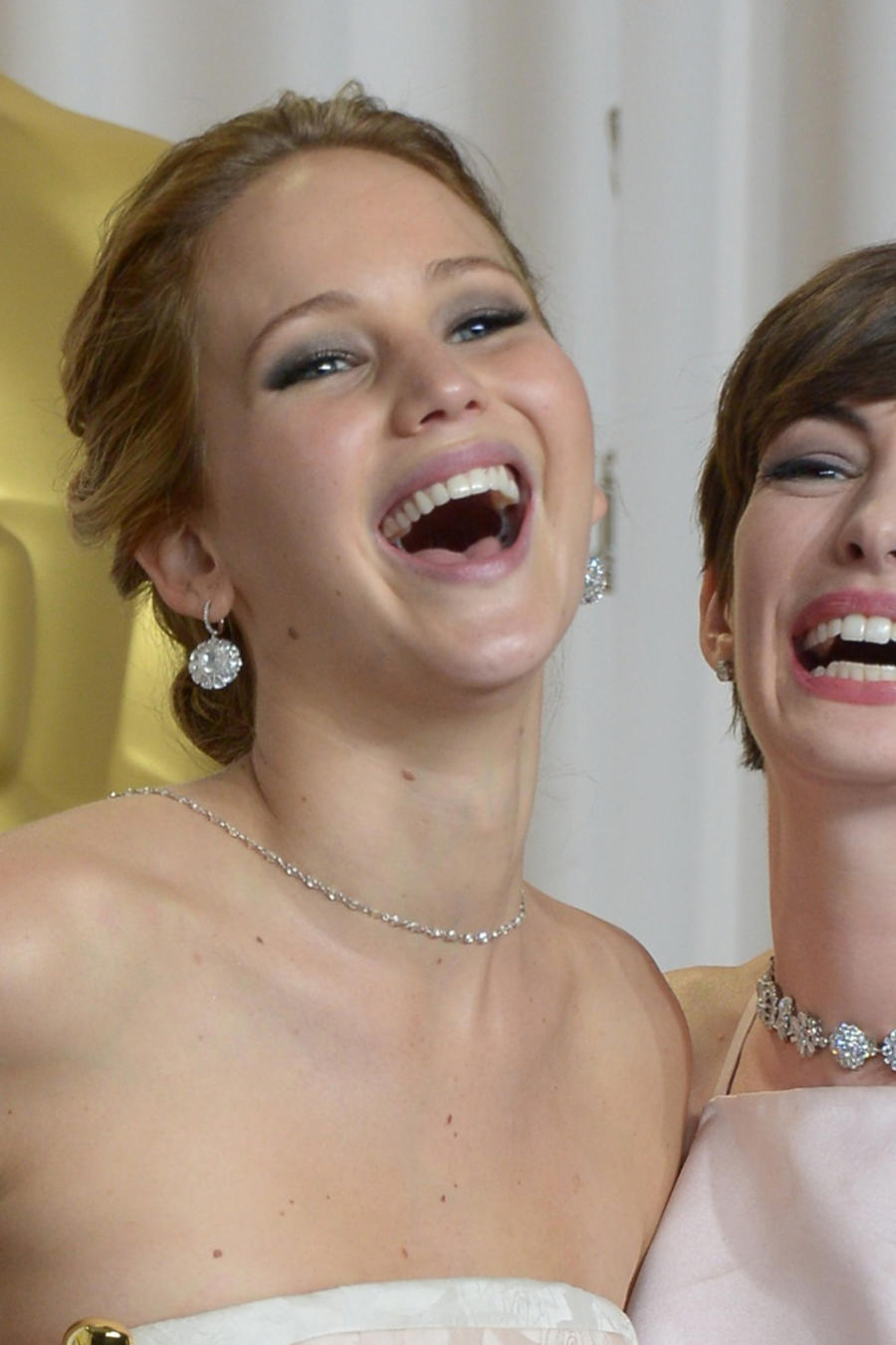 Jennifer Lawrence y Anne Hathaway