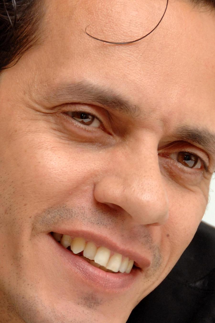 Marc Anthony en la conferencia de prensa en 2007