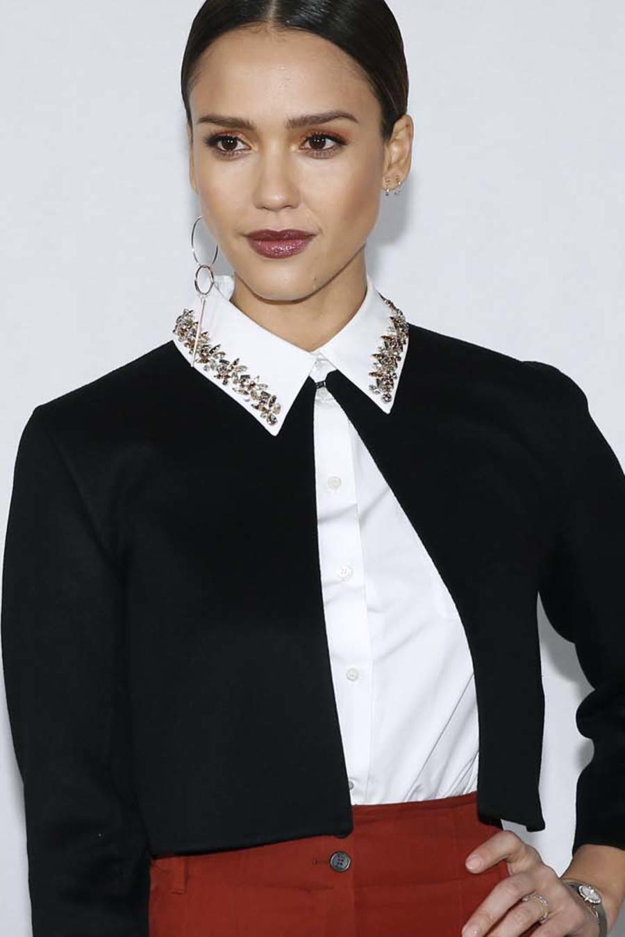 Jessica Alba en el desfile de Christian Dior
