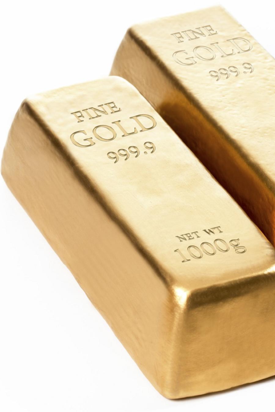 Dos lingotes de oro