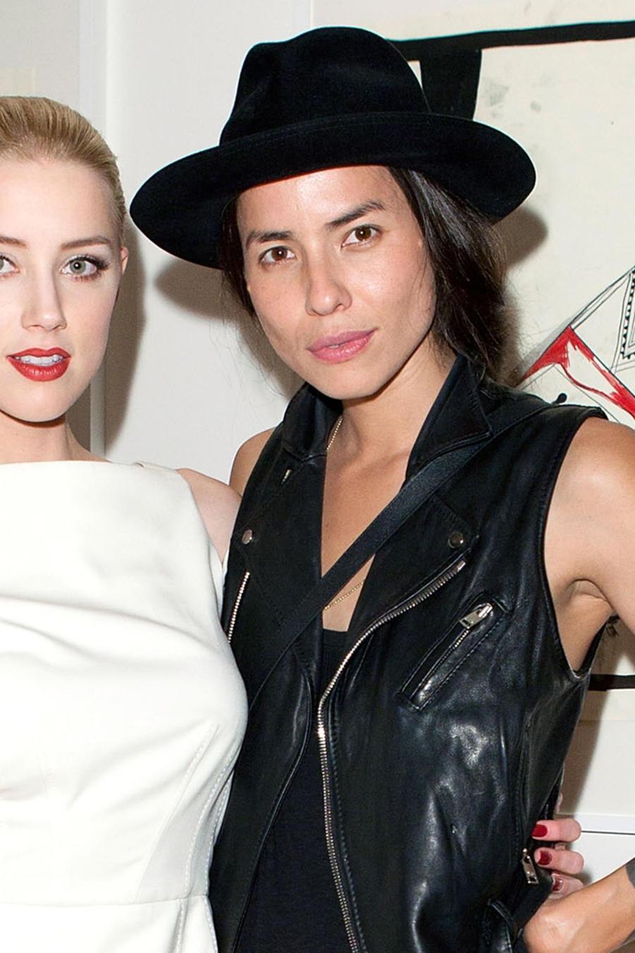 Amber Heard y Tasya Van Ree