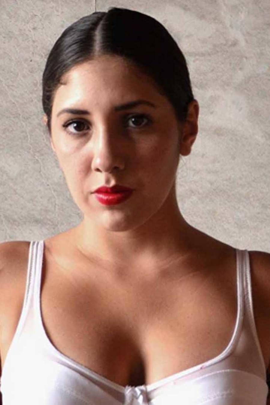 Maria Nikklason posa en ropa interior