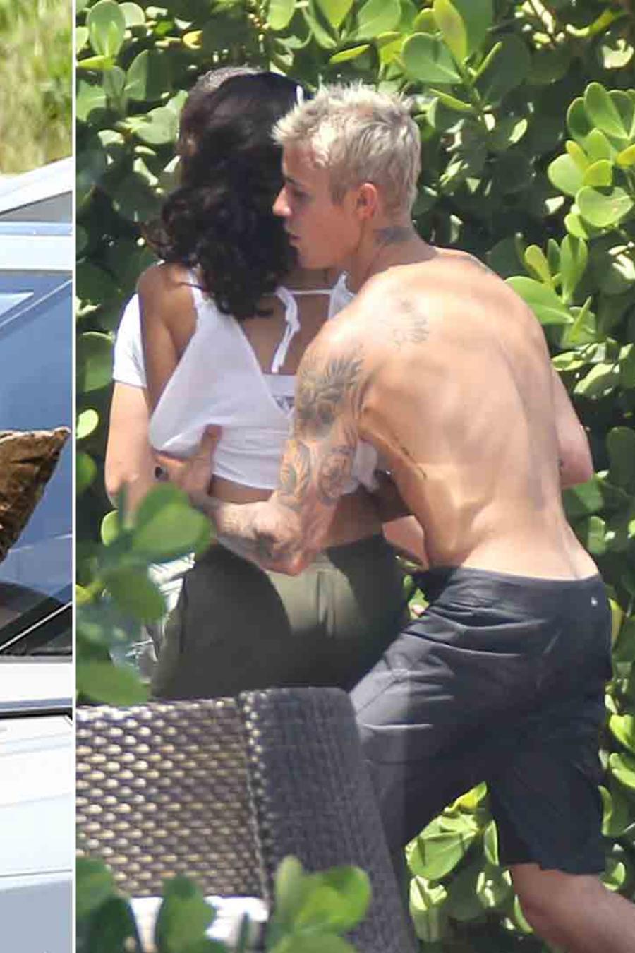Justin Bieber, Alexandra Rodriguez y Jaxton dando un paseo en yate en Miami