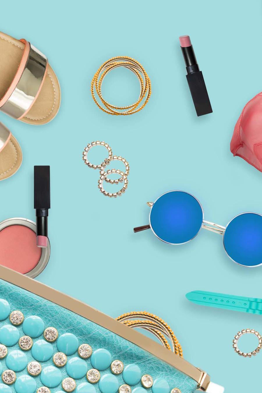 Accesorios y maquillaje de verano