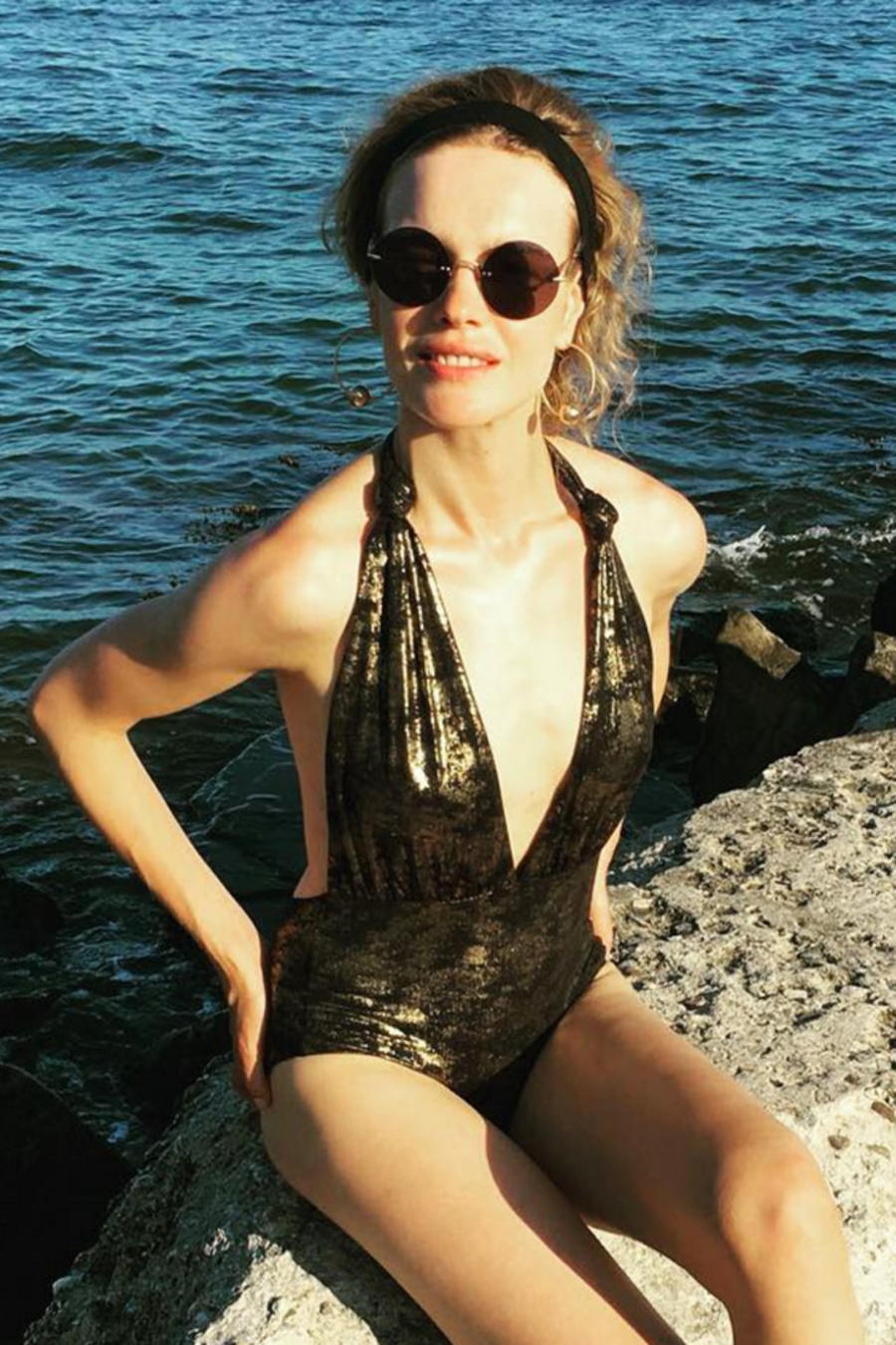 Natalia Vodianova en dos fotos con distintos pesos