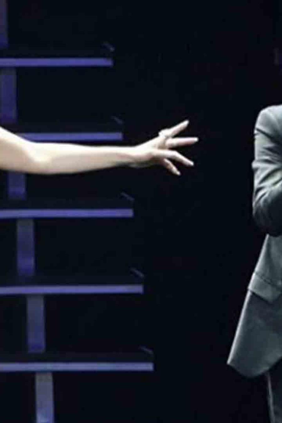 Marc Anthony y Jennifer López cantando