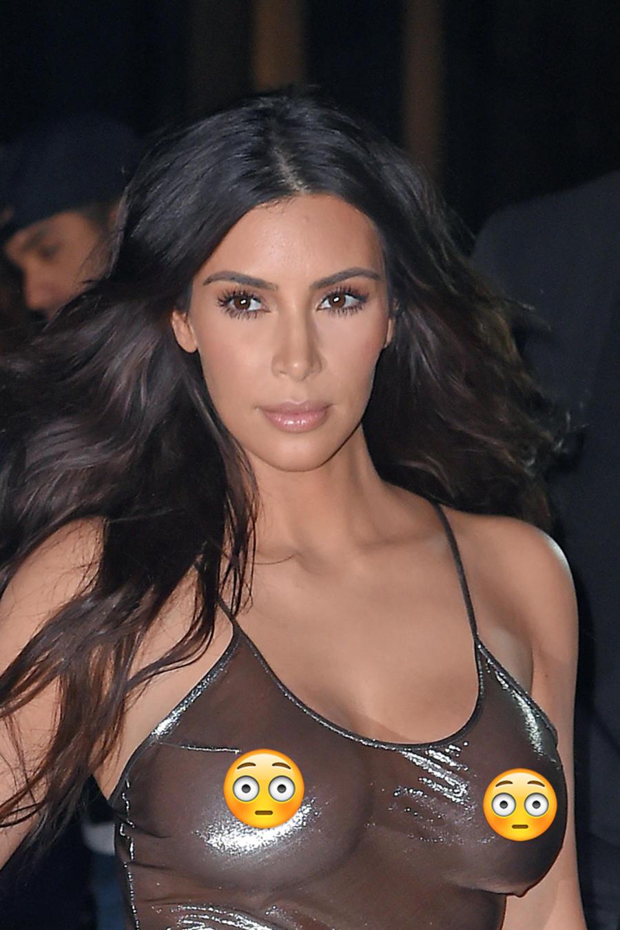 Kim Kardashian y su look transparente que deja poco a la imaginación