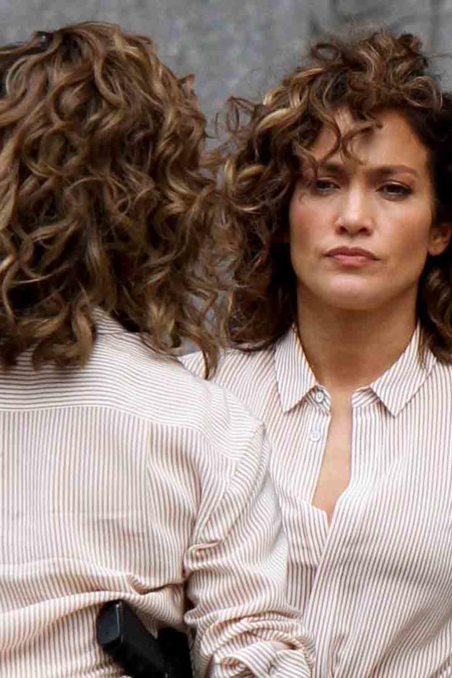 Jennifer Lopez en el set de Shades of Blue