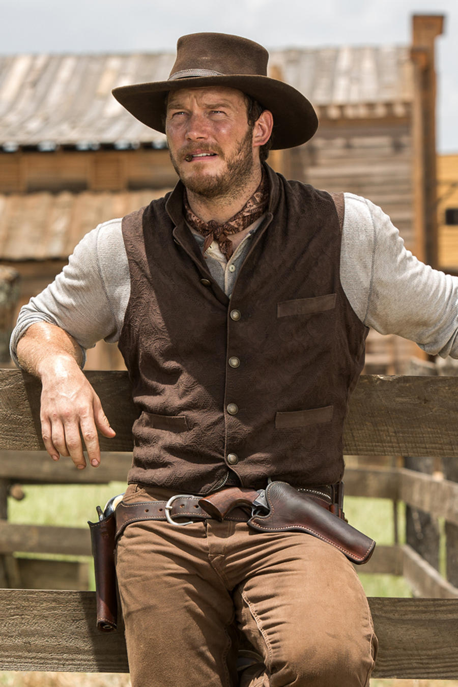 "Denzel Washington y Chris Pratt en ""The Magnificent Seven"""