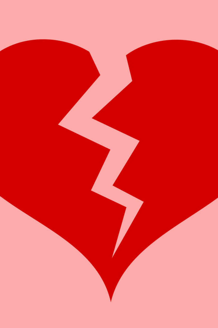 Corazón roto sobre fondo rosa