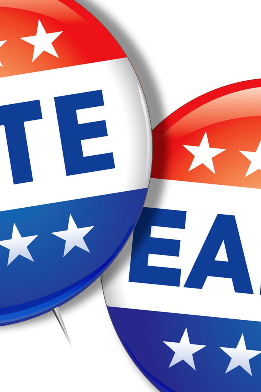 """Pines con el lema """"Vote Early"""""""
