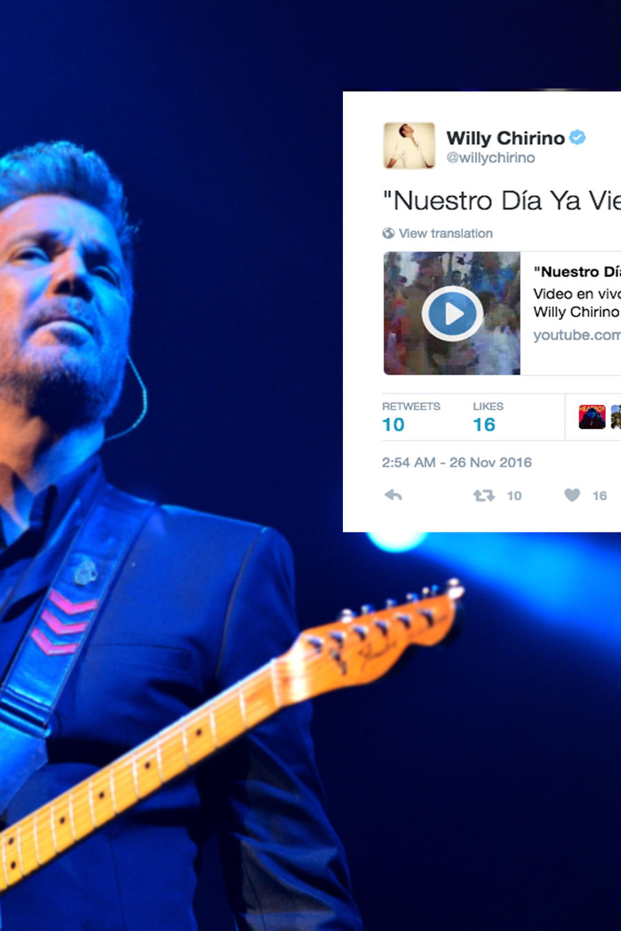 Willy Chirino en Concierto