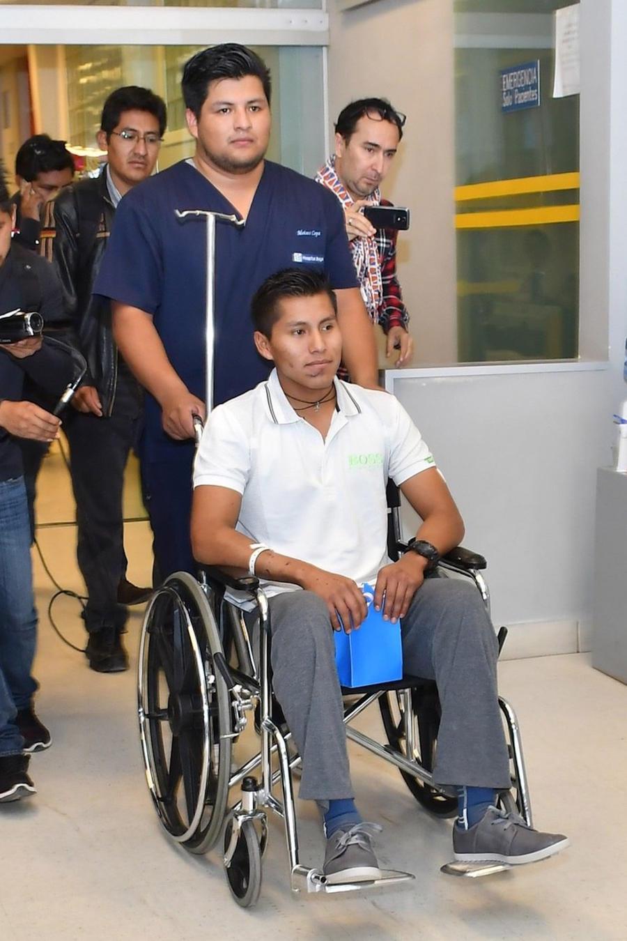 DAN EL ALTA MÉDICA AL TÉCNICO BOLIVIANO SOBREVIVIENTE DEL ACCIDENTE AÉREO EN COLOMBIA