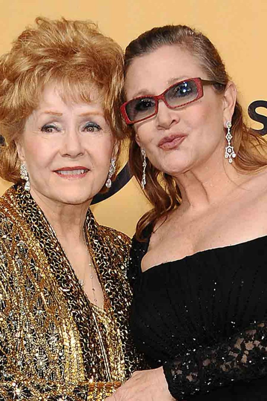 Debbie Reynolds y Carrie Fisher en los SAG Awards 2015