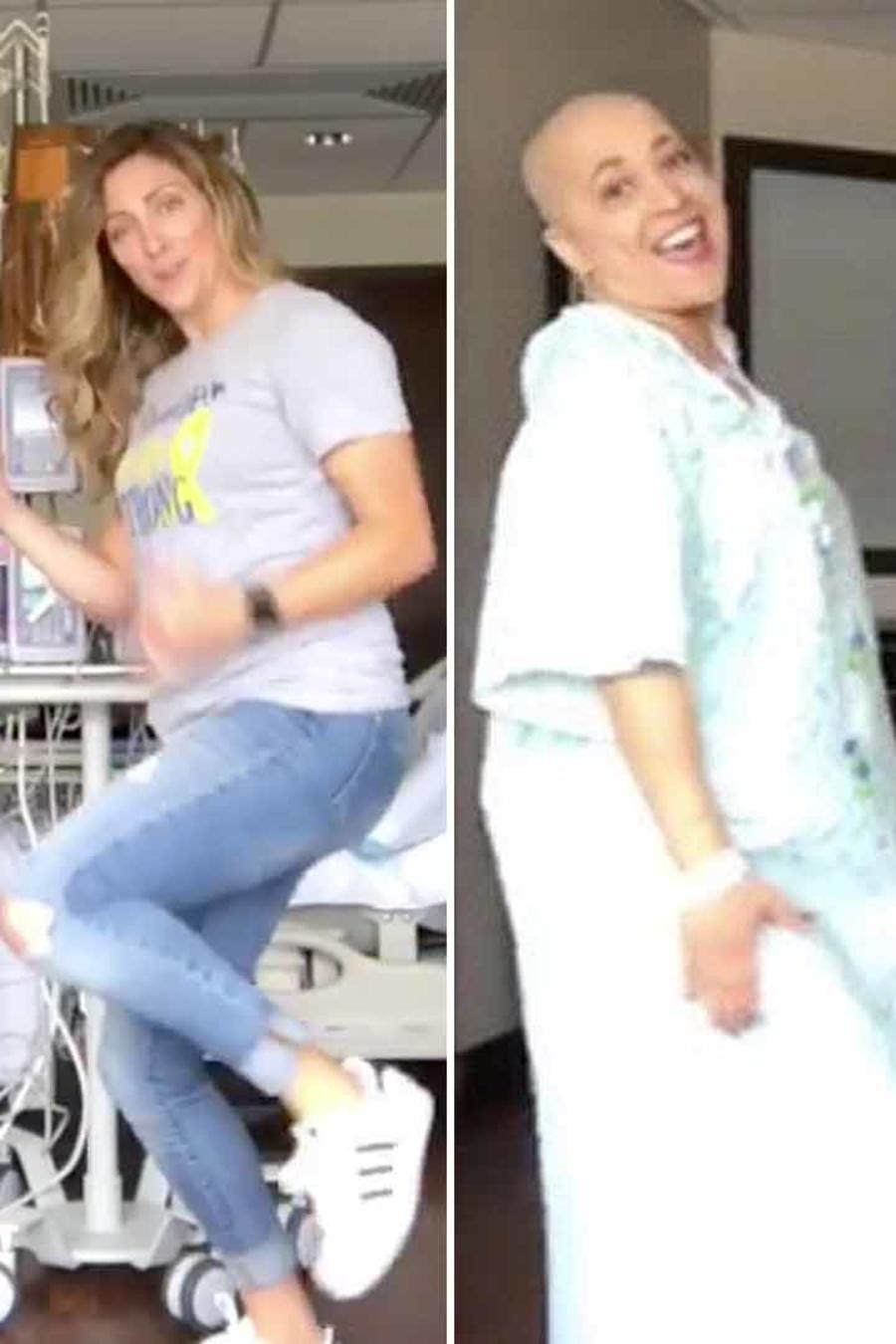 Ana Alecia Ayala bailando en el hospital