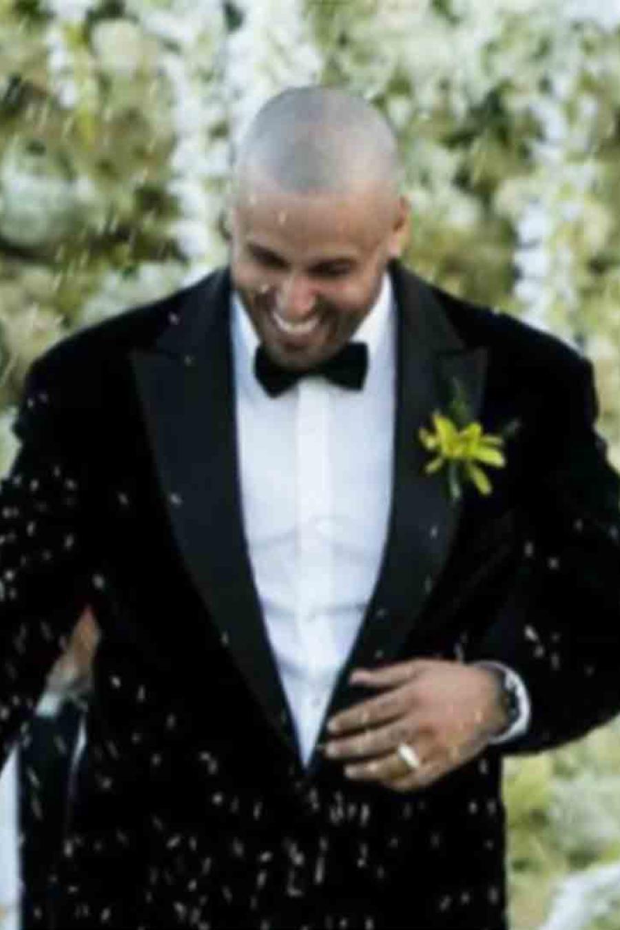 Nicky Jam y Angélica Cruz en su boda