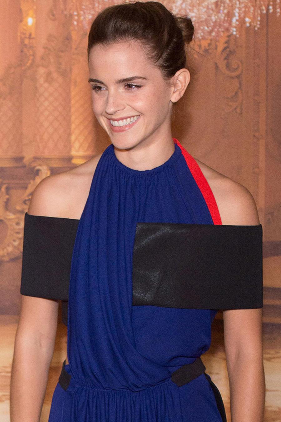 """Emma Watson durante la promoción de """"La Bella y la Bestia"""" en París"""