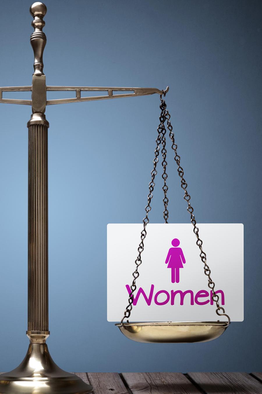 Balanza igualdad de género