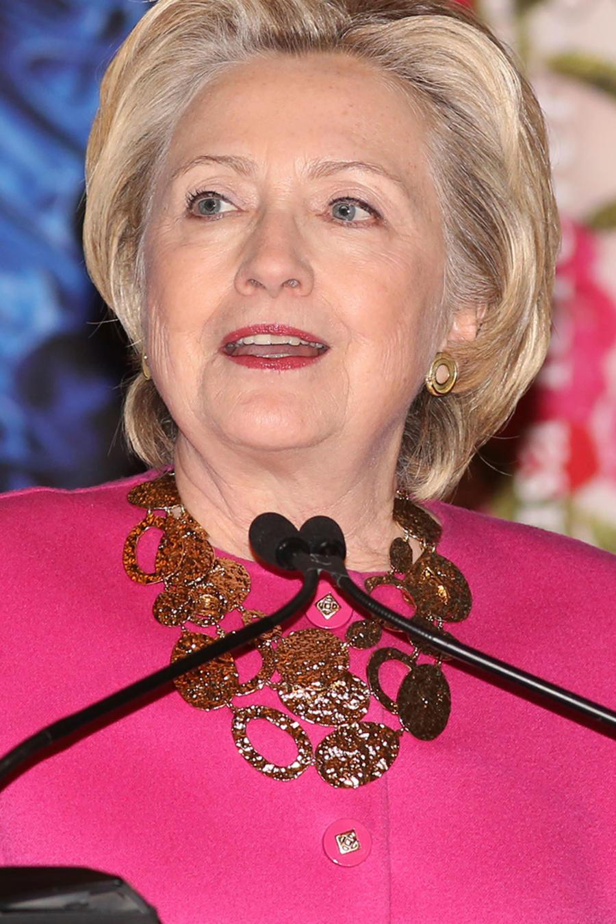 Hillary Clinton en una ceremonia de Oscar de la Renta en New York el 16 de febrero del 2017