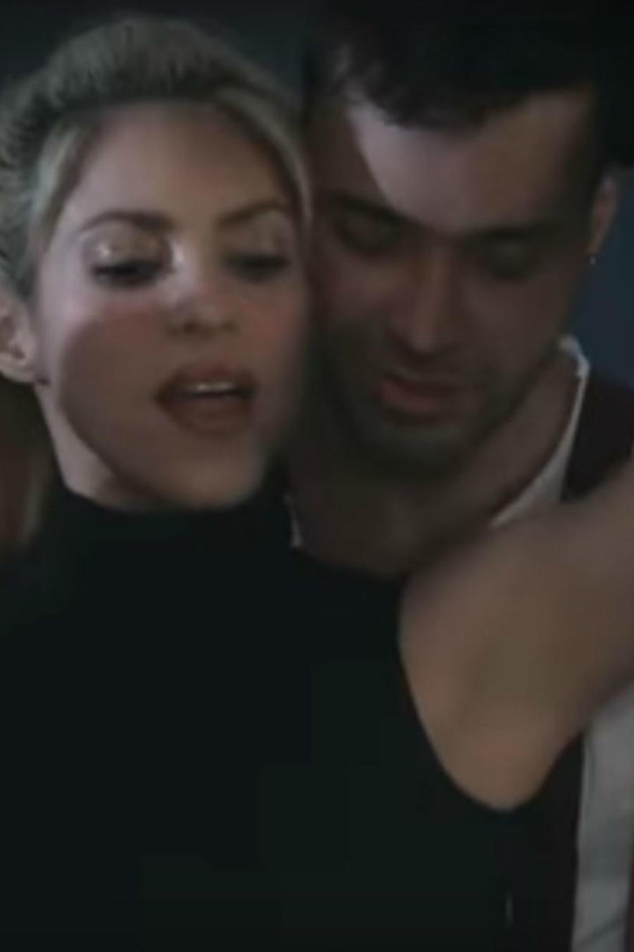 """Shakira y Prince Royce durante la grabación del video de """"Deja Vu"""""""