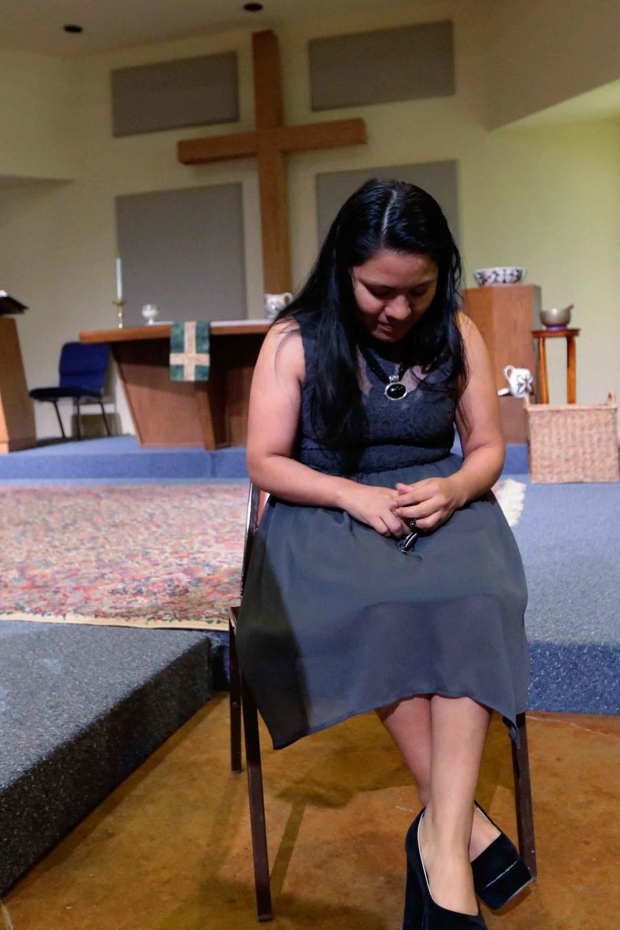 Indocumentada refugiada en una iglesia santuario en Austin, Texas