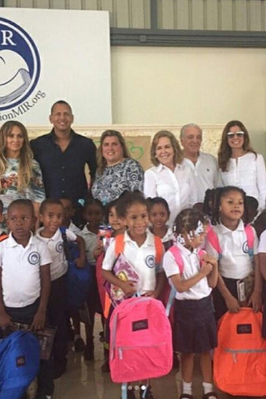 Jennifer Lopez y Alex Rodriguez en MIR Fundation