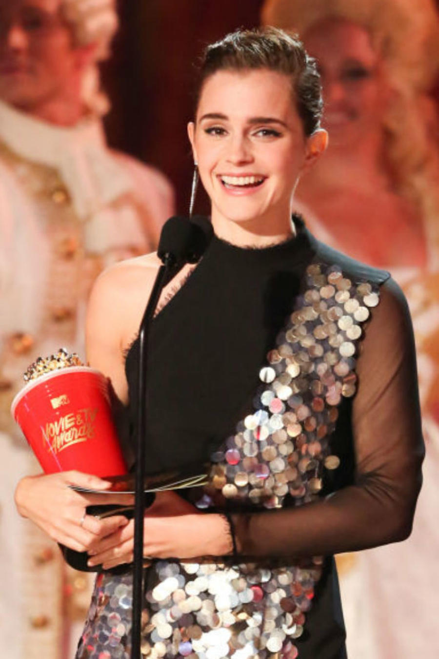 Emma Watson en el escenario de los MTV Movie&TV Awards