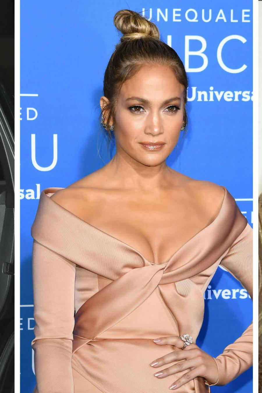Collage cambios de vestido Jennifer Lopez