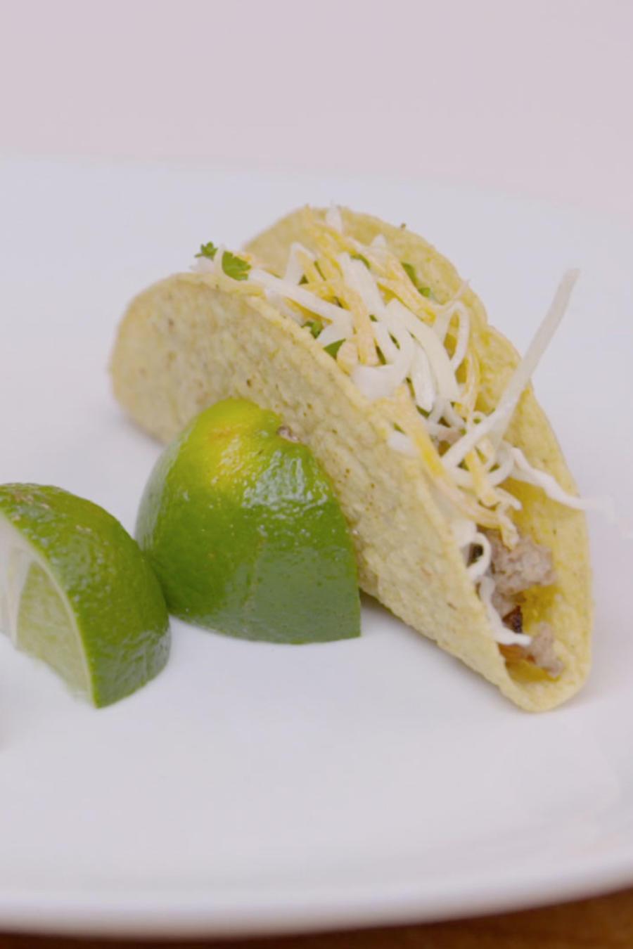 Tacos de picadillo de pavo