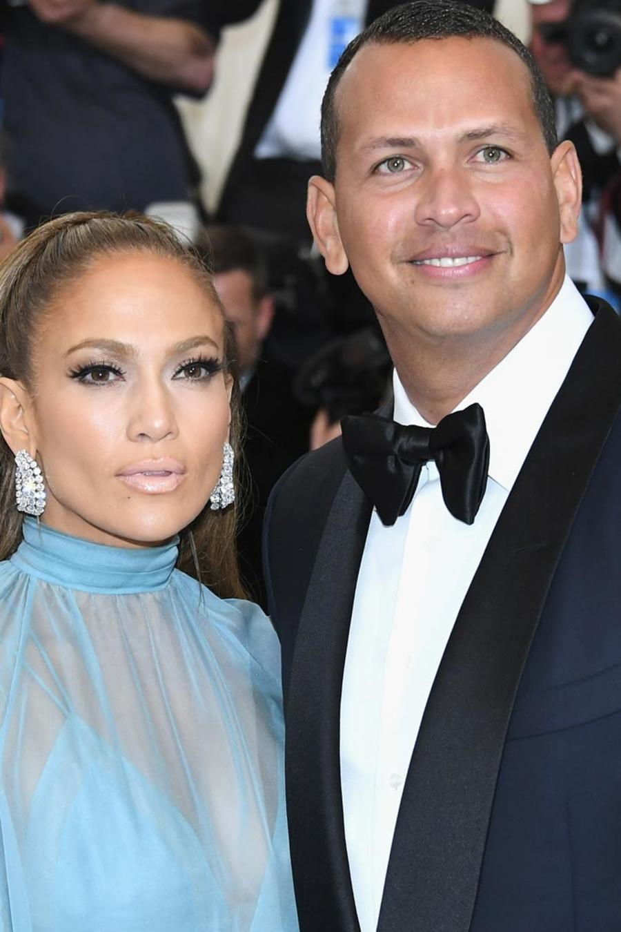 Jennifer Lopez y Alex Rodriguez en el MET Gala de Nueva York