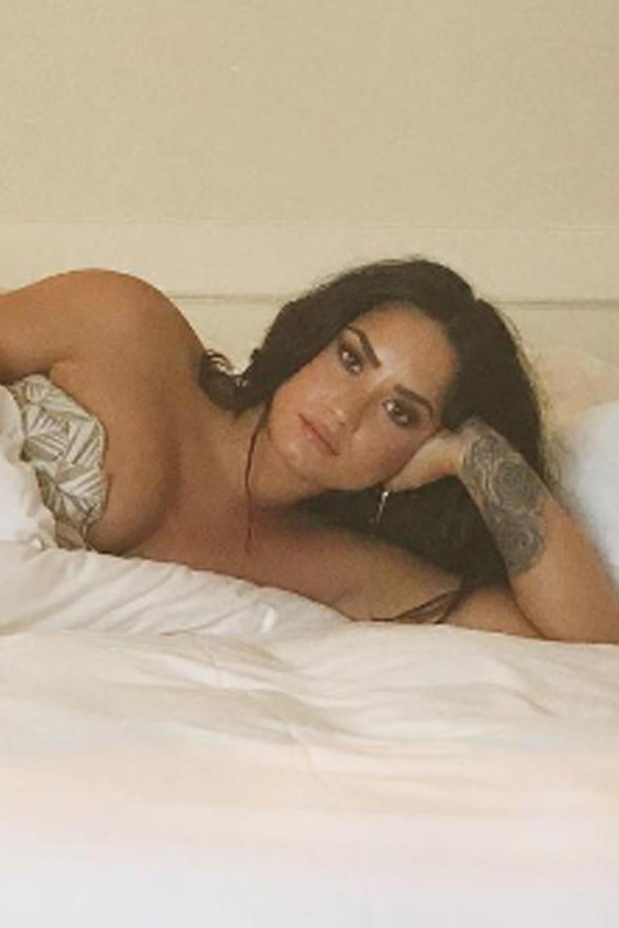 Demi Lovato se desnuda y comparte la foto en Instagram
