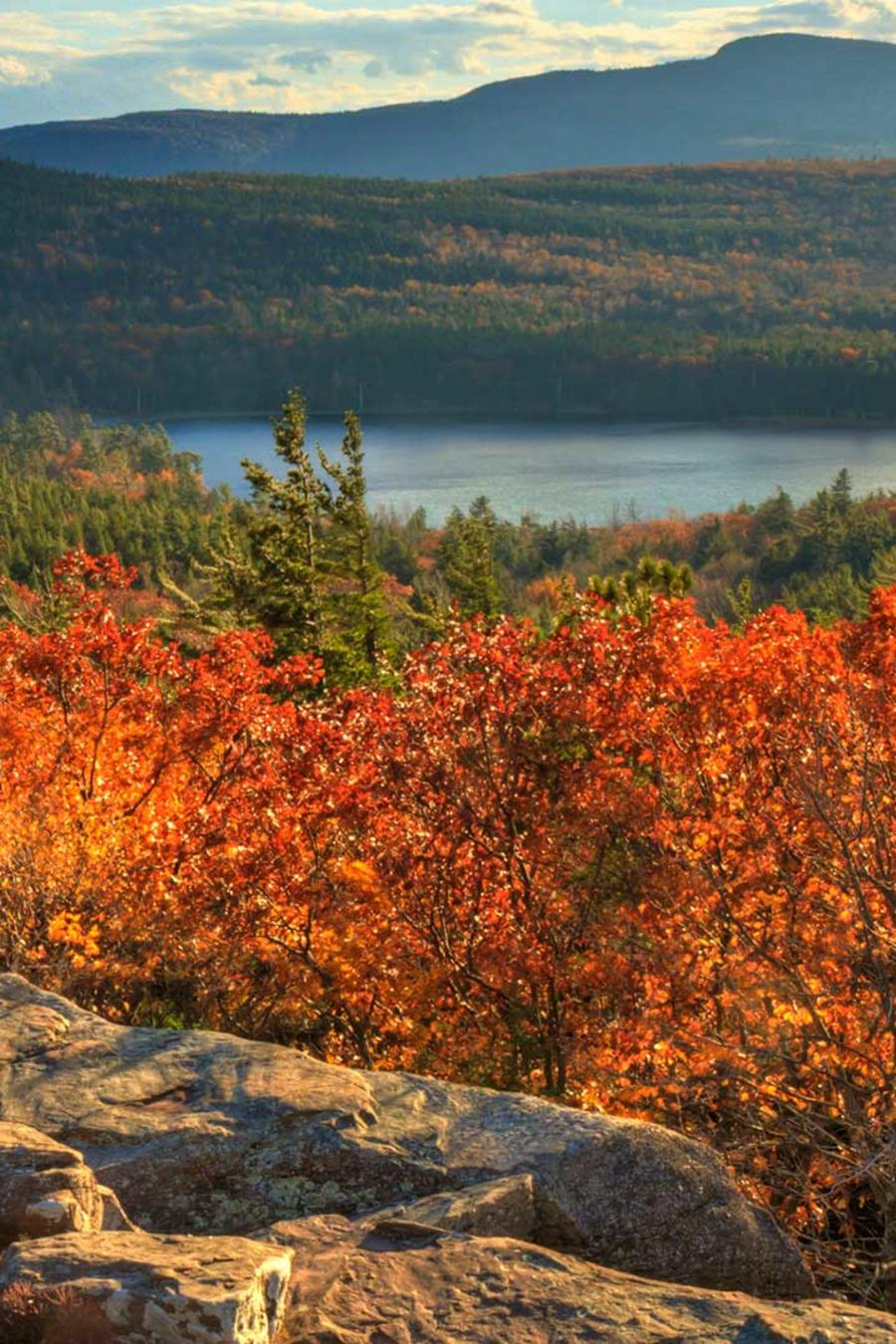 Roca al atardecer en Hudson Valley