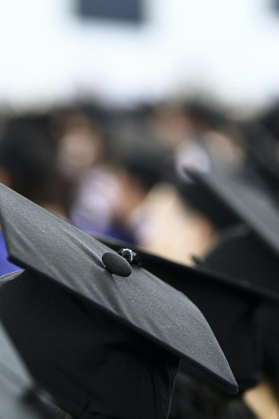 Estudiantes graduados de la universidad