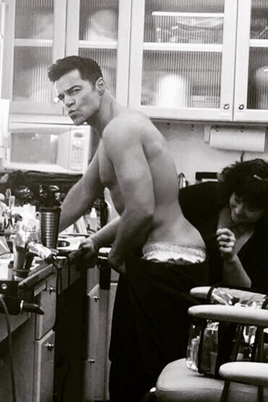 Ricky Martin luce su trasero