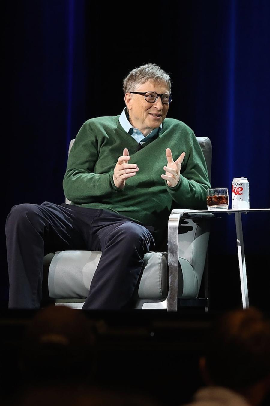 Bill Gates junto a Warren Buffett