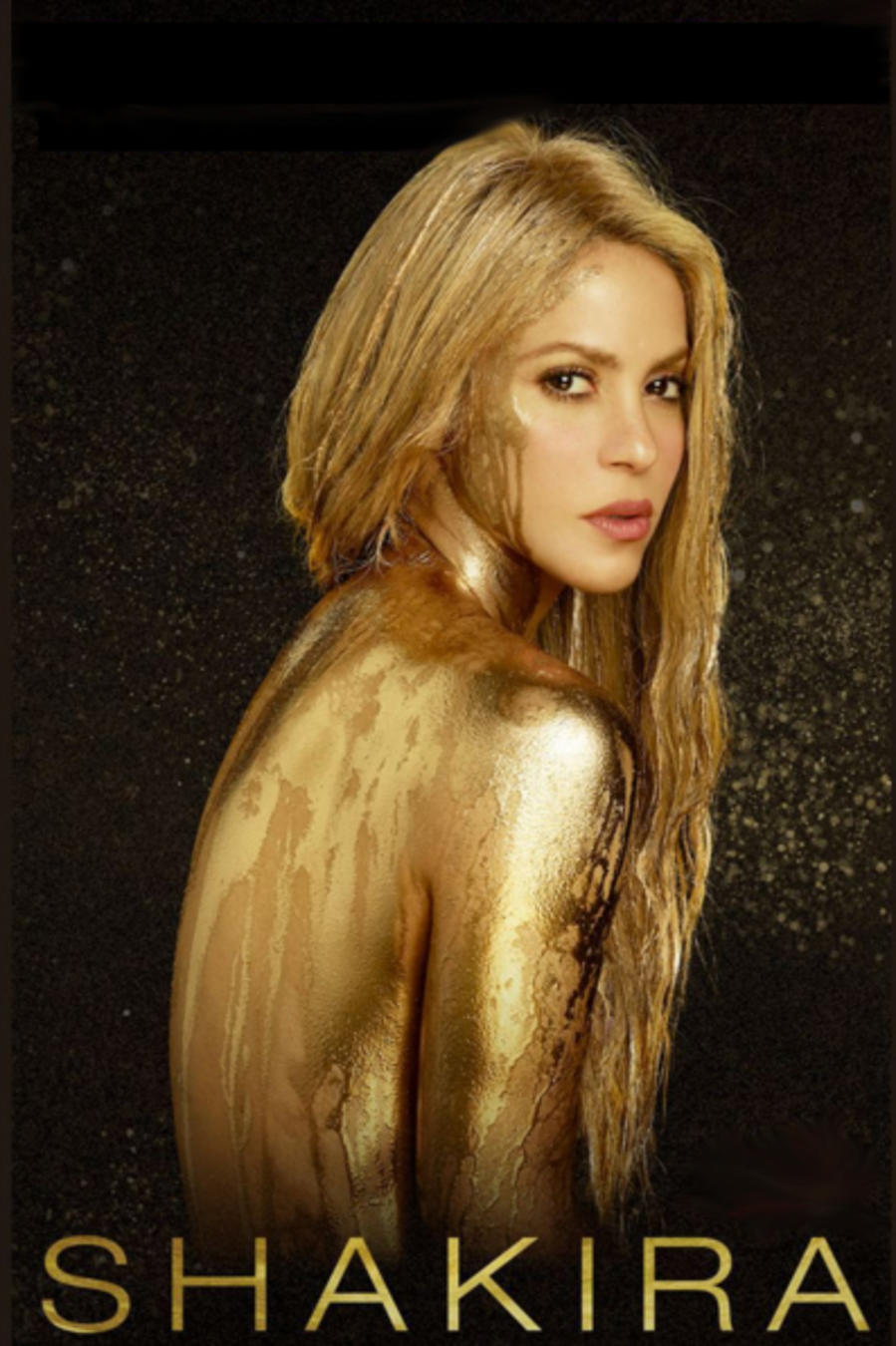 Shakira en cover promocional gira El Dorado World Tour